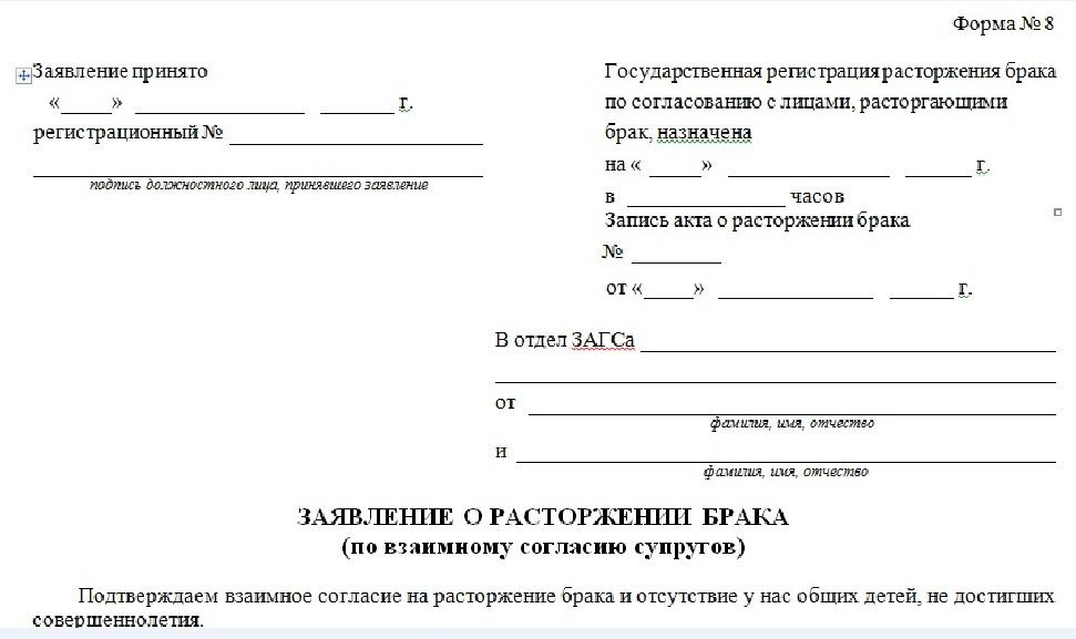бланки заявлений на развод через суд - фото 11